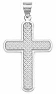Cross Pendant, Sterling Silver 925, 1 1/4""