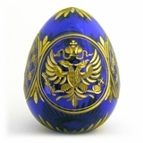 Crystal Egg,  Imperial Eagle, Faberge Style