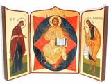 Deeses (Christ Enthroned ), Hand Enhanced Serigraph Icon Triptych