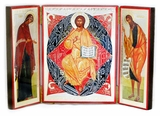 Desis of Christ, Virgin Mary and St. John Baptist Triptych
