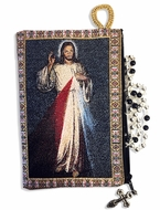 Divine Mercy, Two Sided Rosary Pouch, Keepsake Holder