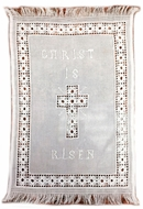 Easter Basket Cover - Hand Embroidered Ukrainian Towel, 22""