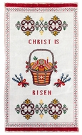 Easter Basket Cover - Embroidered Ukrainian Towel, 22""