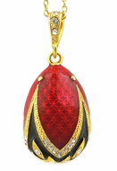 Egg Pendant, Faberge Style,  Sterling Silver 925,  Gold Gilded