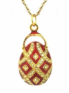 Egg Pendant Faberge Style, Sterling Silver 925, Gold Gilding