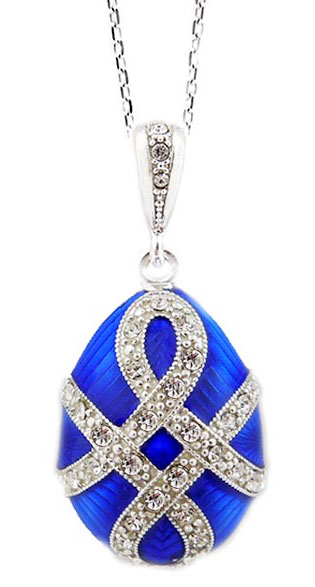 Faberge style egg pendant sterling silver 925 hand enameled at view large image aloadofball Choice Image
