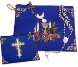 First Communion, Rosary or Bible Tapestry Pouch Case, 7""