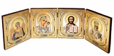 Foldable Set of  4 Orthodox Icons Icons