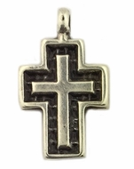 Greek Metal Cross Pendant, 1""