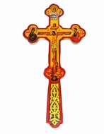 "Greek Style Blessing Cross, 8"" x 4"""