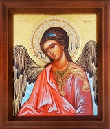 Guardian Angel, Orthodox Icon in Wooden Frame
