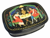 Hand Painted Lacquer Box with   Fairy Tales Scene