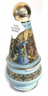 Holy Water & Incense Ceramic Bottle with Incense, Turquoise