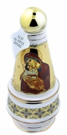 Holy Water & Incense Ceramic Bottle with Incense, White