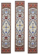Set of 3 Tapestry  Icon  Book Markers,  IC XC Cross,  Red