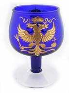 Imperial Crystal Glass with Double Headed Royal Eagle