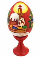 Kulich / XB Wooden Easter Egg with Stand