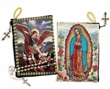 Our Lady Of Guadalupe and Arch. Michael Two Sided Rosary Pouch