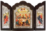 The Last Supper, WoodenTriptych Serigraph Orthodox  Icon
