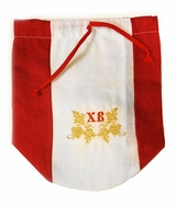 Linen Bag Designed to Carry Kulich
