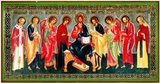 Lord All Powerful w/Saints, Orthodox Christian Panel Icon