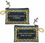 """Lord Jesus Christ"" Reversible Tapestry Pouch, Blue"