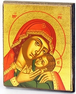 Madonna & Child, Byzantine Serigraph Mini Icon