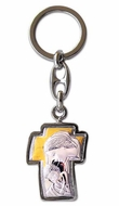 Madonna & Child, Laminated Silver / Gold Plated Key Chain