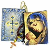 Madonna & Child Rosary Icon Pouch Case
