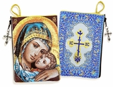 Madonna & Child Rosary Icon Pouch