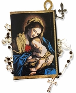 Madonna & Child, Rosary Icon Pouch Case