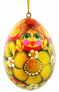 Matreshka Christmas Decoration, Wooden Ornament