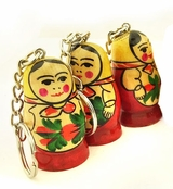 Matreshka Key Chain, Semenova Design, Set of 3
