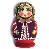 Matreshka Magnet, Hand Carved