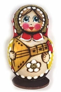 Matryoshka Magnet, Hand Carved