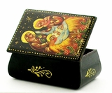 Nativity of Christ, Keepsake Lacquered  Box, Hand Painted