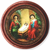 Nativity Of Christ, Round Icon