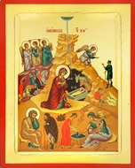 Nativity of Christ, Serigraph Orthodox Icon, Large
