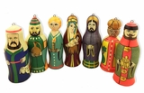 Nativity of Christ Set of 7 Christmas Ornaments, Made in Russia