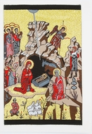 Nativity Of Christ, Tapestry Icon Greeting Card with Envelope