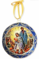 """Nativity"", Not Breakable  Christmas  Ornament, Blue"