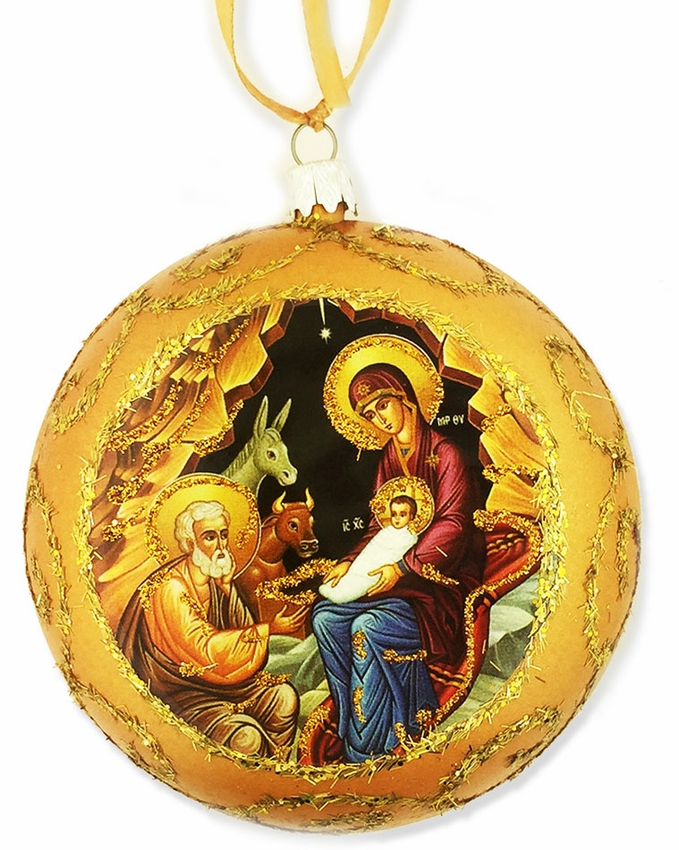 nativity religious christmas ornament yellow loading zoom