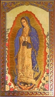 Our Lady Of Guadalupe, Greek Decoupage Icon