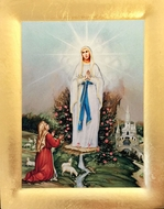 Our Lady of Lourdes, Greek Orthodox Serigraph Icon