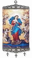 "Our Lady Undoer of Knots, Tapestry Icon Banner, 17"" H"
