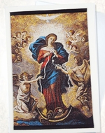 Our Lady Undoer of Knots, Tapestry Icon Greeting Card with Envelope