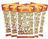 "Pascha Egg Stickers ""Angels and Doves"", Set of 5 Packs"