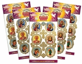 "Pascha Egg Stickers ""Eastern Icons"", Set of 5 Packs"