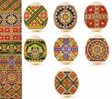"Pascha Egg Wraps ""Church"" and Traditional Ukrainian Slavic Designs"