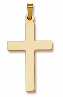 14 KT Yellow Gold  Orthodox Cross,  1""